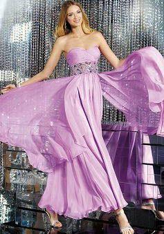 Empire Sheath/ Column Chiffon Floor Length Sweetheart Prom Gowns - 1300104174B - US$129.99 - BellasDress
