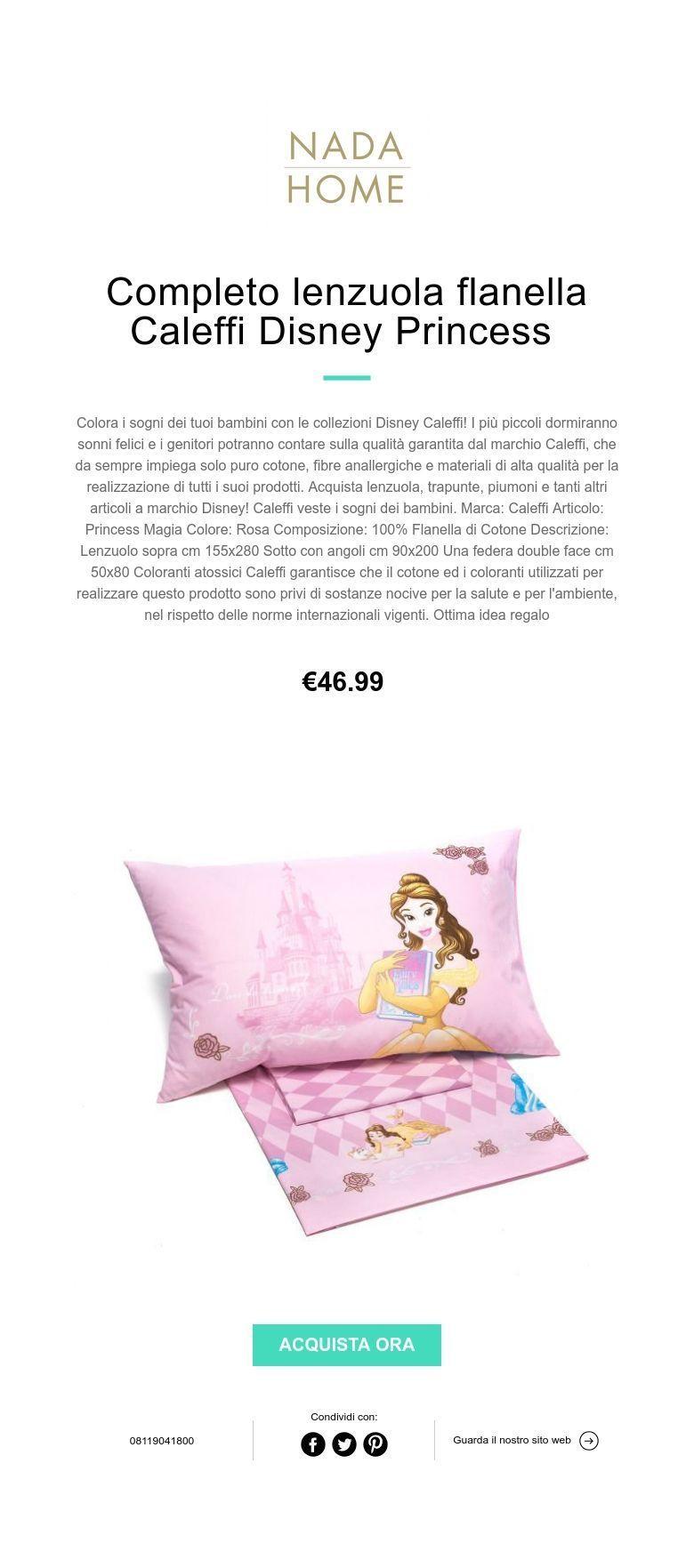 Lenzuola Flanella Disney Caleffi.Completo Lenzuola Flanella Caleffi Disney Princess Biancheria