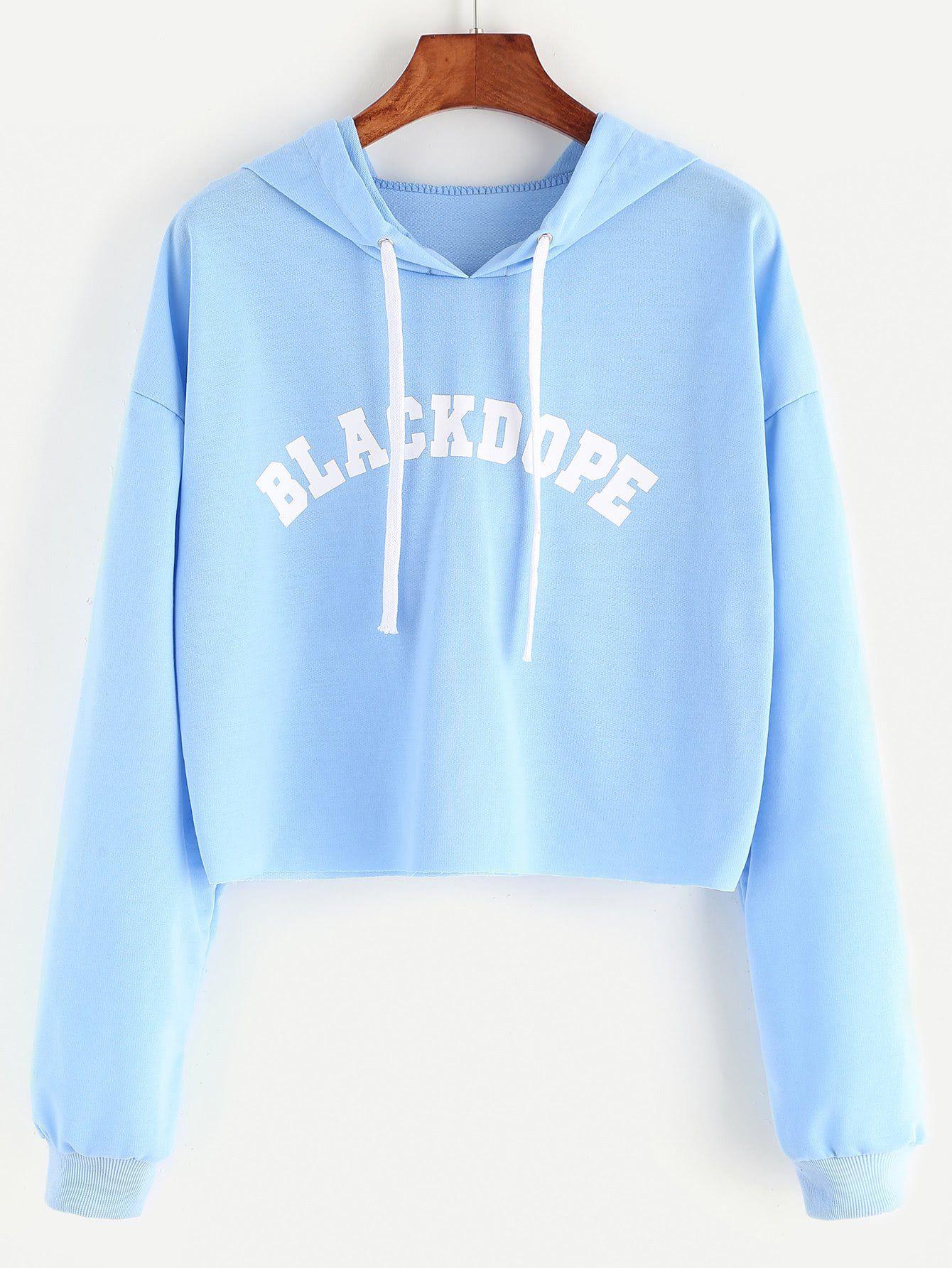 7a59c176743 Black dope pullover hoodie crop sweatshirt