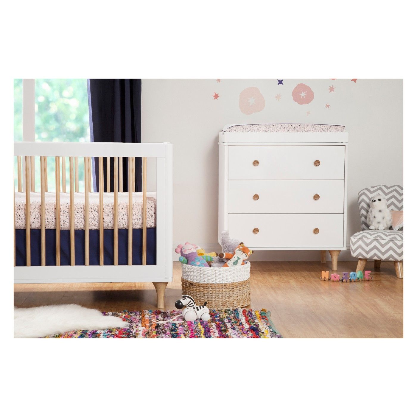 Babyletto Lolly 3in1 Convertible Crib with Toddler Rail