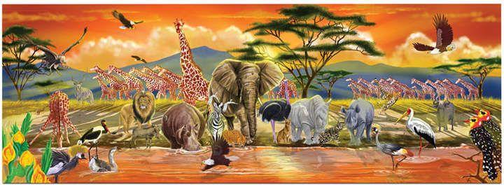 Melissa Doug Kids Toy Safari 100 Piece Floor Puzzle