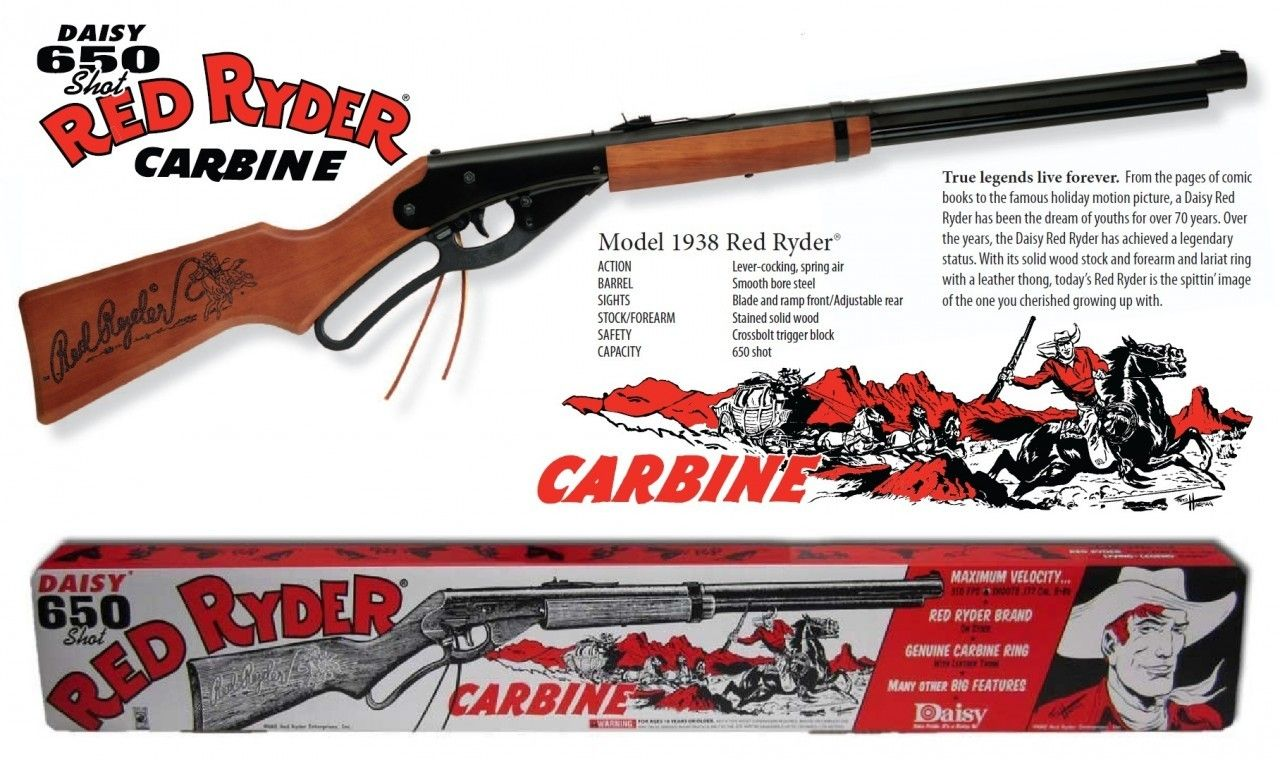 red ryder bb gun just like ralphie a christmas story red christmas