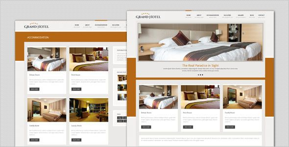 Grand Hotel es una plantilla web wordpress, creada especialmente ...