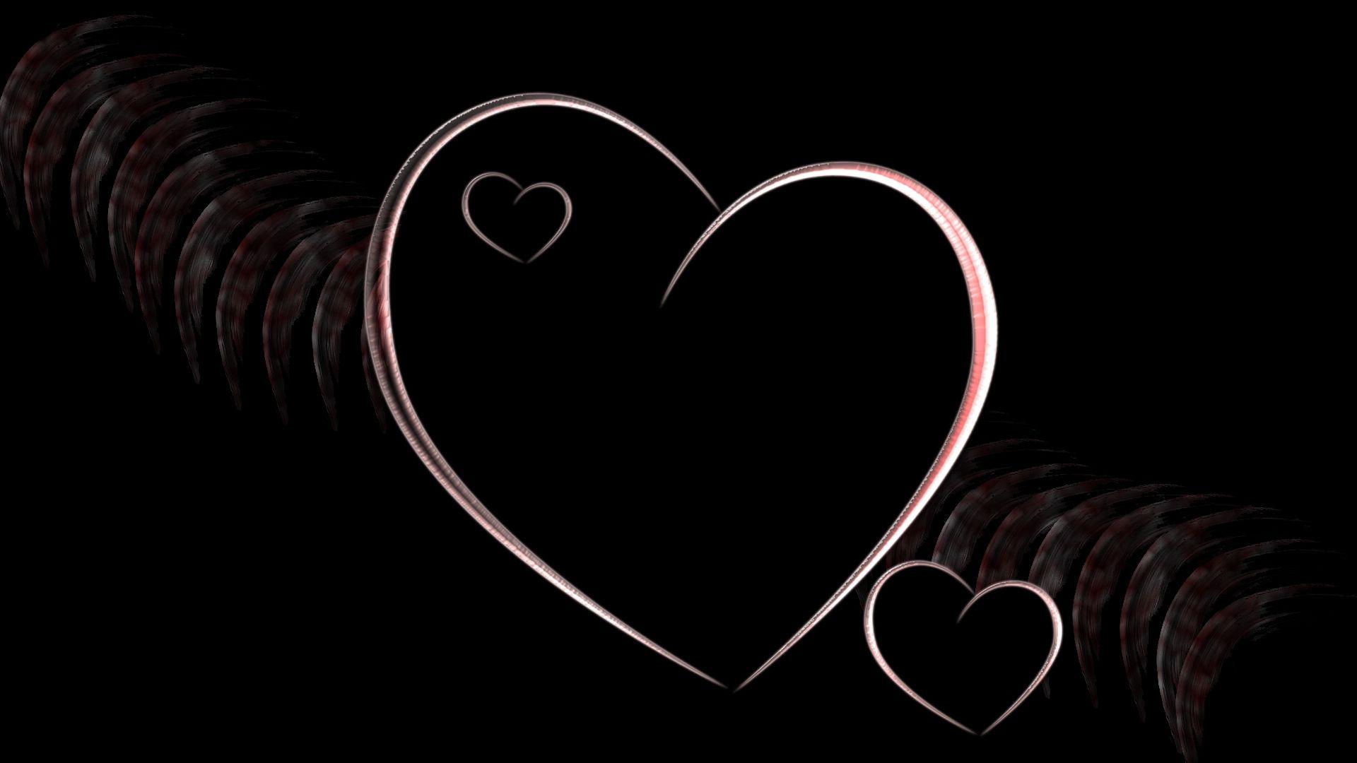 Heart Patterns Smoke Black Background 56935 1920x1080 Jpg 1920 1080 Black Background Wallpaper Black Backgrounds Black Love Heart