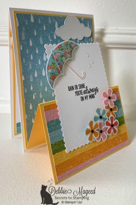 Spring Flowers Under My Umbrella for Cardz 4 Galz