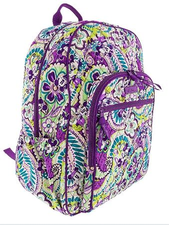 80ea5406c0 Disney Vera Bradley Campus Backpack - Plums Up - Mickey   Minnie ...