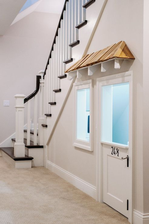 Under The Stairs Playroom Transitional Entrance Foyer