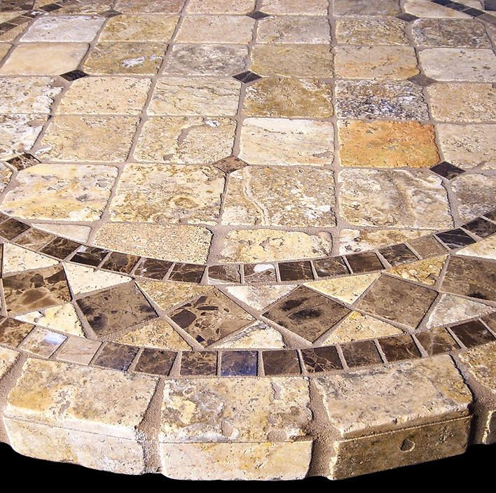Vineyard Mosaic Tile Table Top Mosaics Mosaic Tile