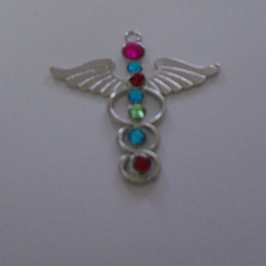 Kundalini pendant with chakra stones for enlightenment and balance new caduceus kundalini pendant with chakra stones for enlightenment and balance new aloadofball Images