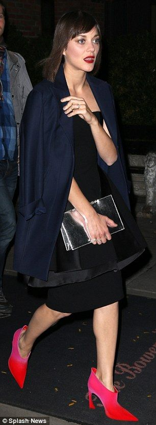 Marion Cotillard at Guggenheim Gala pre-party in NYC   Daily Mail Online