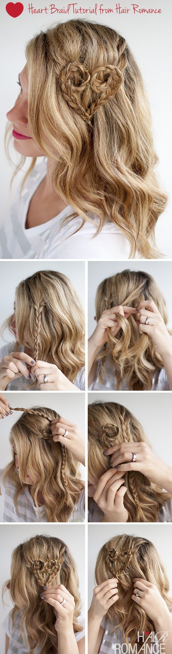 Try out this look for valentineus day valentineus hair heart