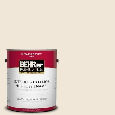 BEHR Premium Plus 1-gal #710C-1 Parchment Paper Hi-Gloss Enamel