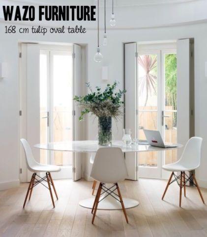 Saarinen table tulipe tulip table carrara marble oval bois mobilier de salle à manger et cuisine ville de montréal kijiji