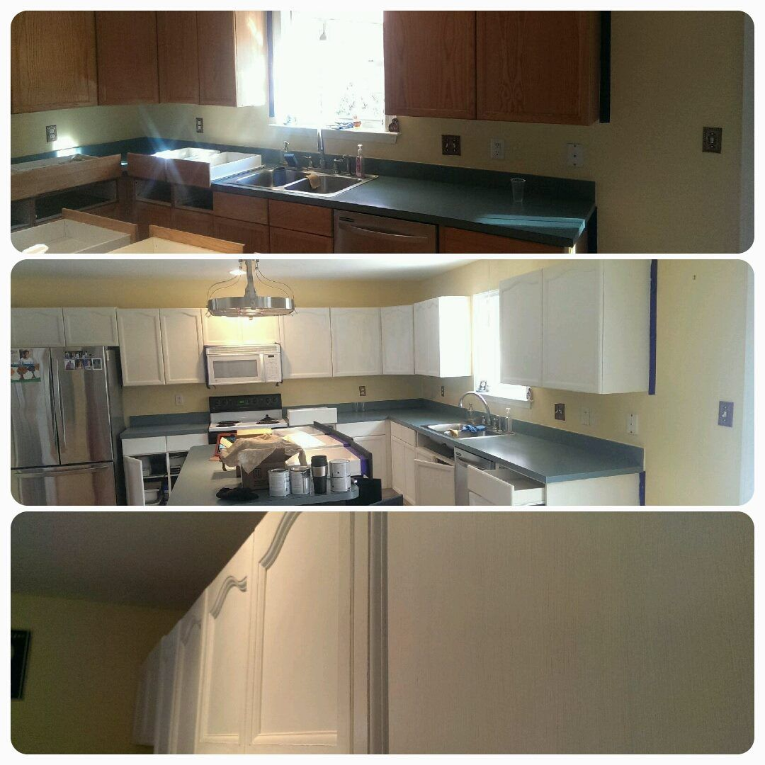 Brackens Painting refinishing cabinets in Northern ...