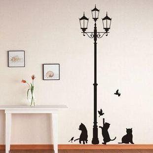 vinilo decorativo pegatina pared cristal puerta varios colores a elegir gatos