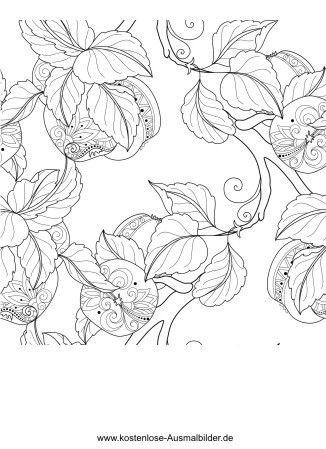 Ausmalbild Malvorlage Erwachsene | Herbstkranz | Pinterest ...