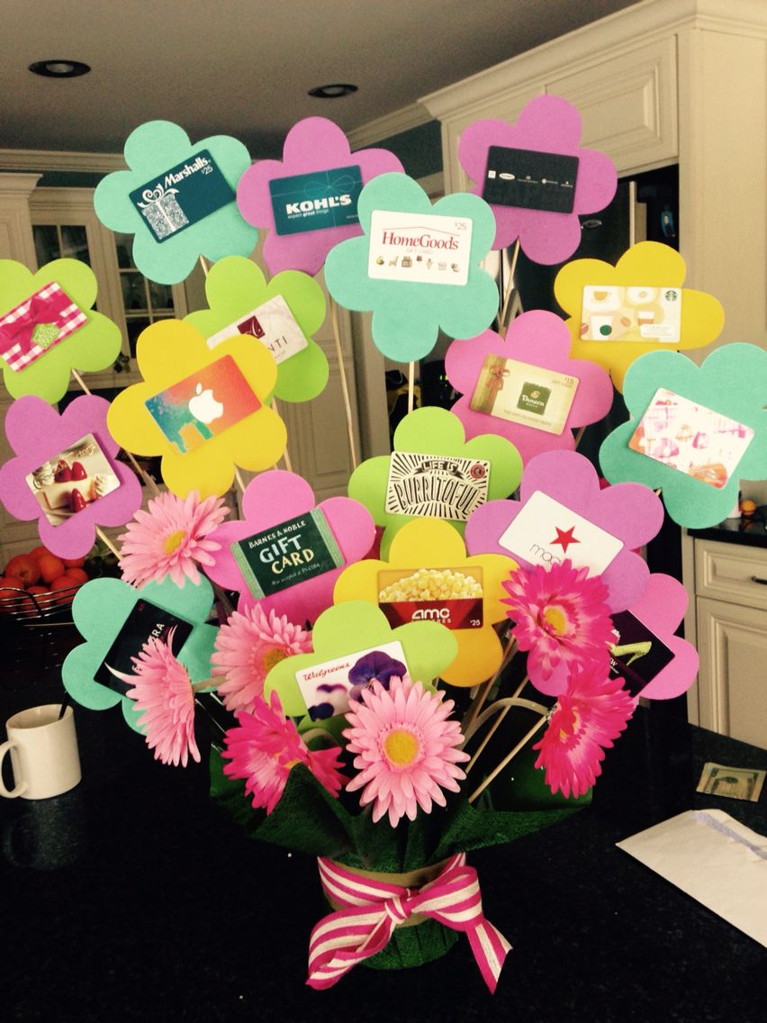Gift Card Flower Pot Gift Card Bouquet Gift Card Basket