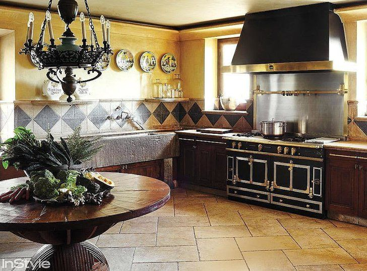 """Pin for Later: Fairy-Tale Apartment Inspiration For a Modern Disney Princess  It's easy to say """"be our guest"""" with a kitchen this large!"""