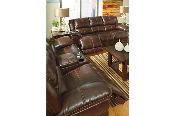The Lenoris Glider Reclining Loveseat With Console And Power Reclining Sofa From Ashley Furniture Homestore Furniture Homestore Power Reclining Sofa Furniture