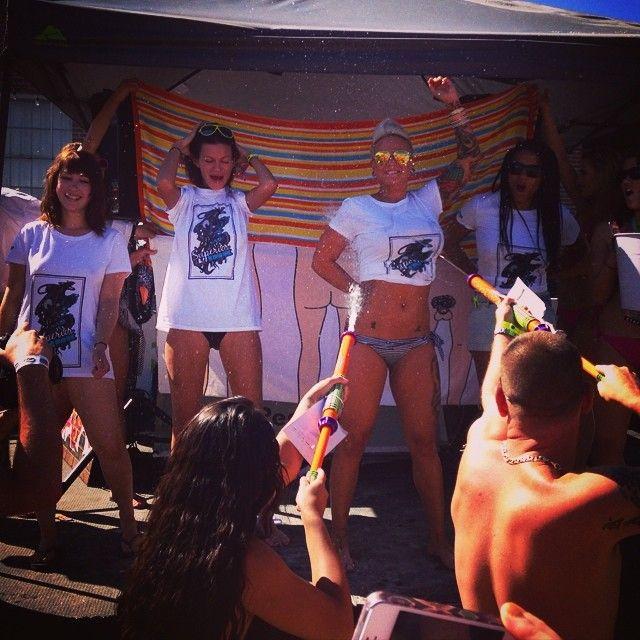 biker girls wet t shirt contest
