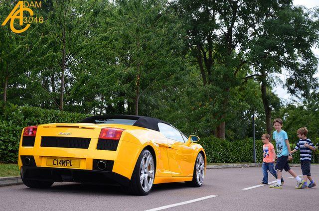 Lamborghini Gallardo Spyder (yelllow) At The Sharnbrook Hotel