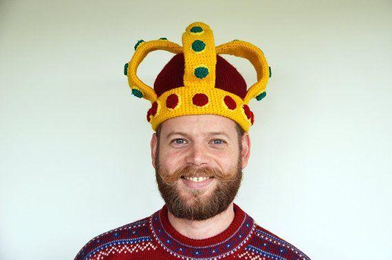 Royal Crown Crochet Pattern, Imperial Crown Hat Pattern, DIY Hat PDF Tutorial, Funny Crochet Hat Pat #crownscrocheted