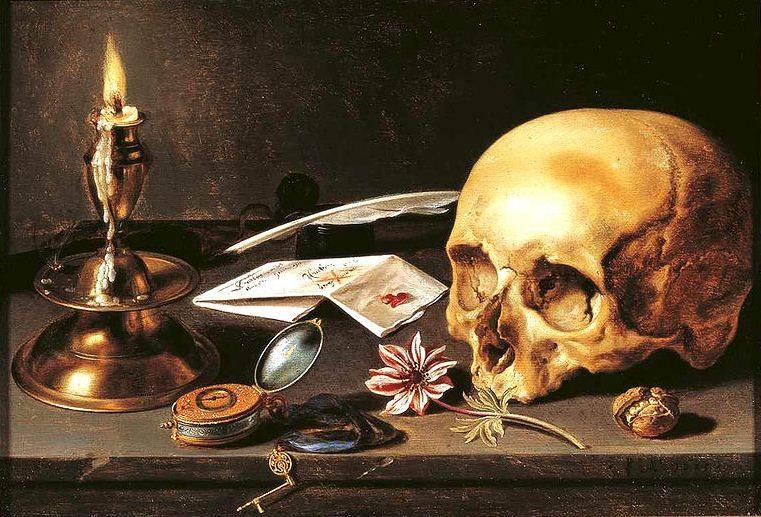 Pieter_Claeszoon-_Vanitas_-_Still_Life.jpg (761×517)   Vanitas paintings, Still life artists, Still life art