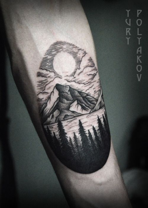 Silhouette Tattoos, Forest Tattoos