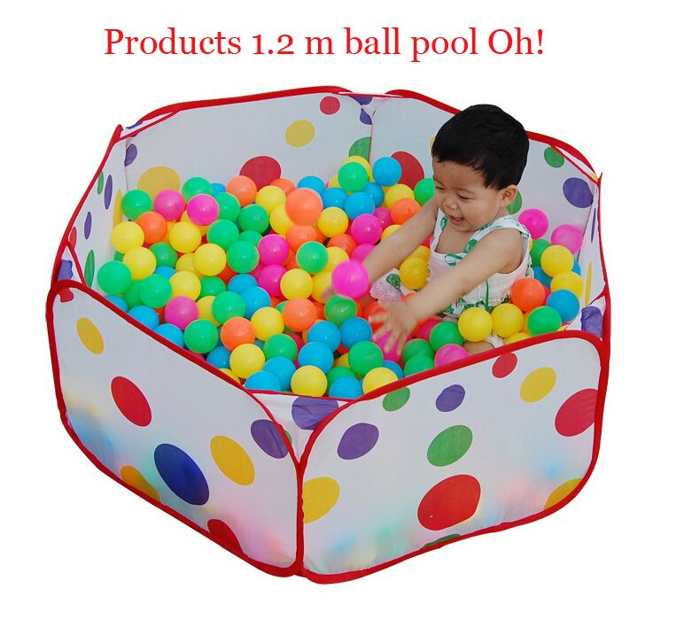 Hot 100cm Kid Portable Outdoor Indoor Fun Play Toy Tent House Playhut Hut Ball Pool Free Shipping