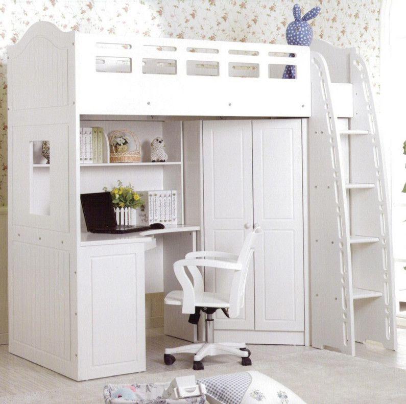 Loft Bed With Desk Underneath White Cool Loft Beds White Loft