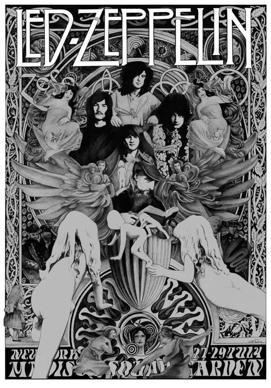 Led zep by british poster artist steve harradine