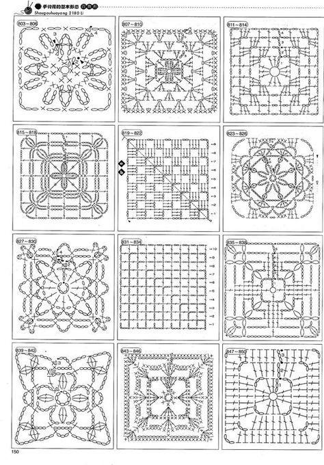 cuadrados granis patrones | Cuadrados de la abuelita de ganchillo ...