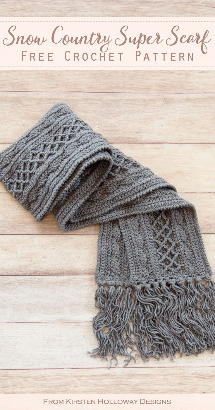 Free Crochet Scarf Pattern for Winter