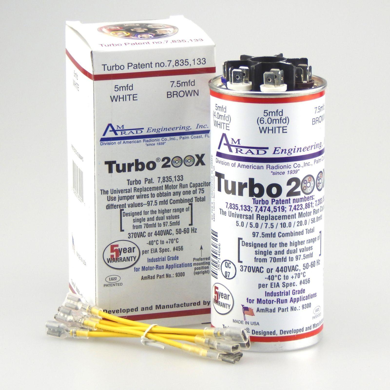 Amrad Turbo 200x Multi Capacitor 370 440v 67 5 And Up Diy Parts Universal Motor Turbo Capacitor