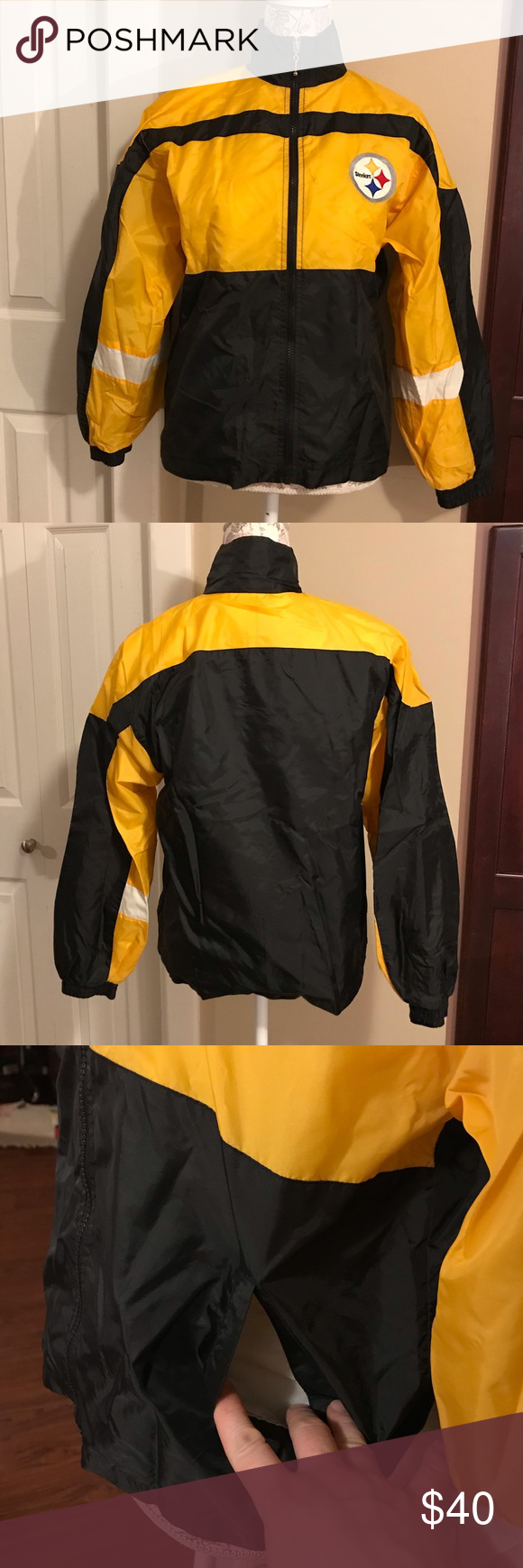 huge selection of e3da6 59893 Steelers NFL Mighty-Mac Touchdown Club Jacket Kids size 14 ...