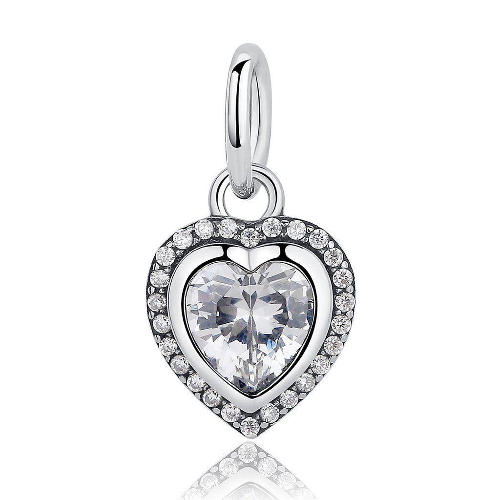 c0e9f8147fbb2 Romantic Love Heart Pendant charm Fits Authentic Pandora Charm Bracelet  Jewelry