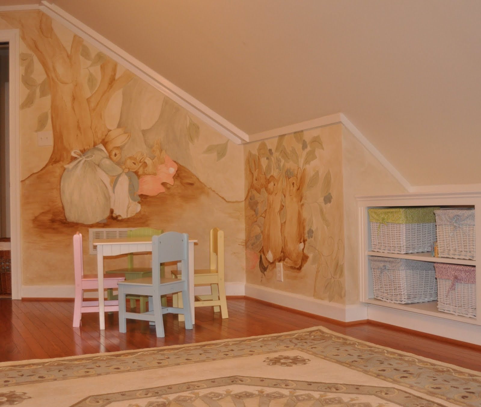 Murals And More By Linda C Miller From Williamsburg, Virginia: Peter Rabbit  Mural,