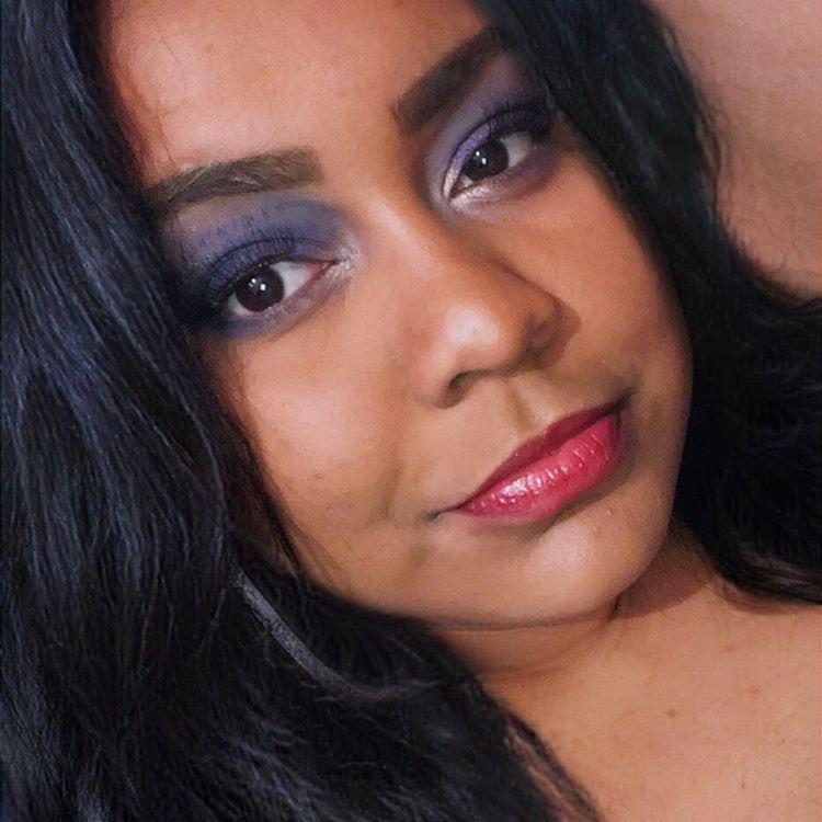 saudade desse olho? Sim💙 #makeupideas #asthetic #tumblrgirl