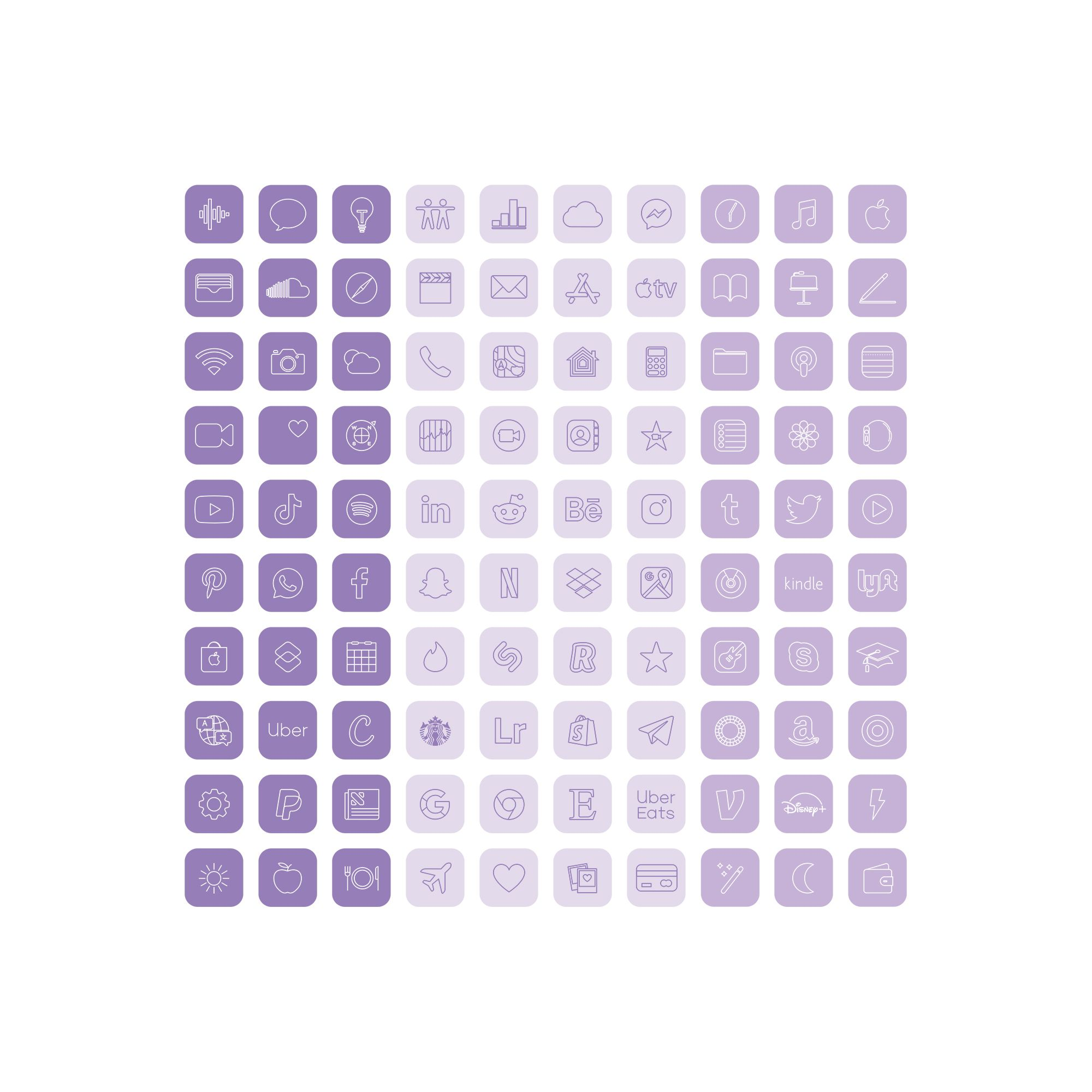 Purple Lavender App Icons