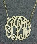 Monogrammed Sterling or 14k Gold Signature Necklace