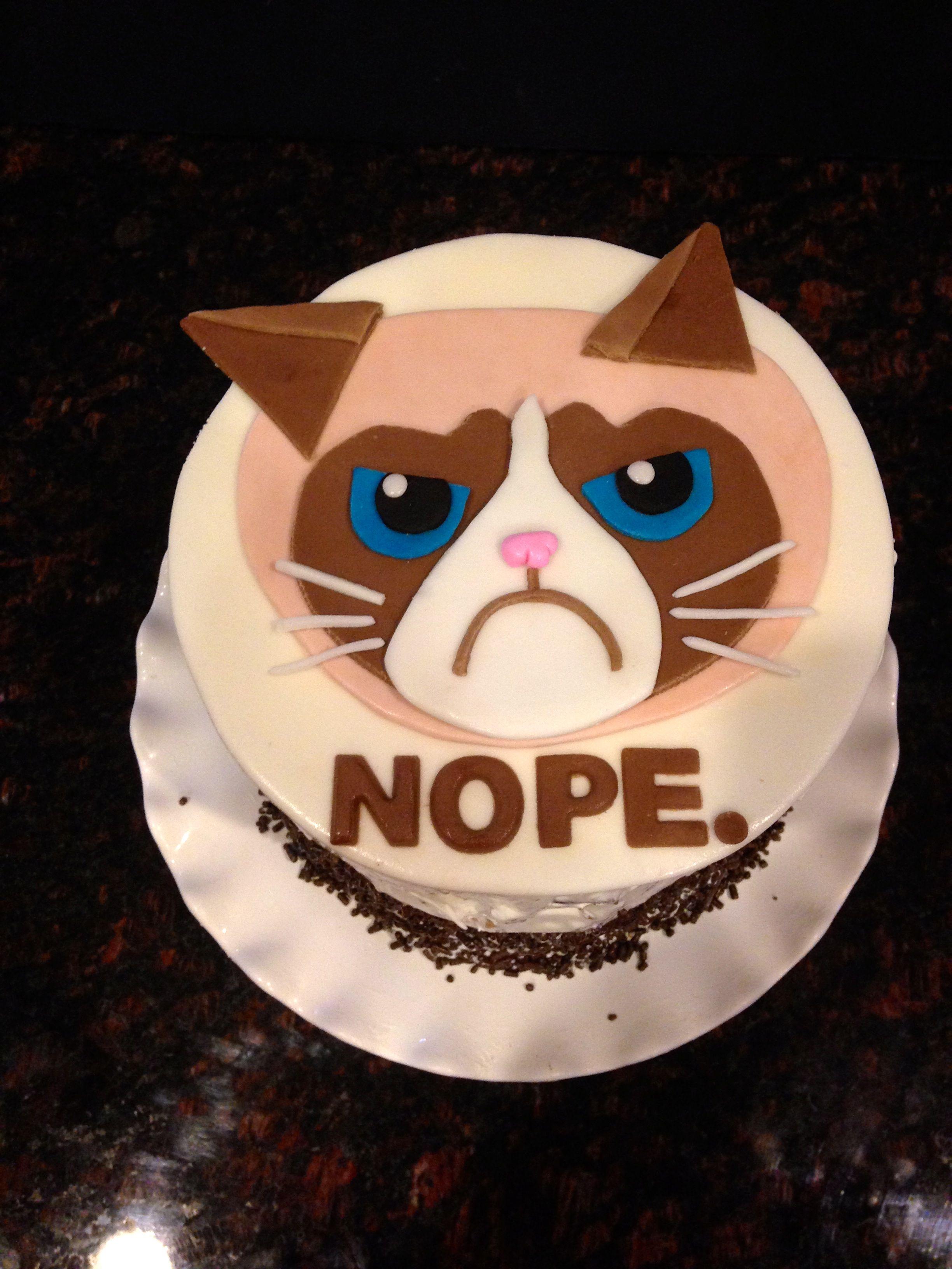 Birthday Cakes - My 39th Birthday Cake…Grumpy Cat (my favorite!)