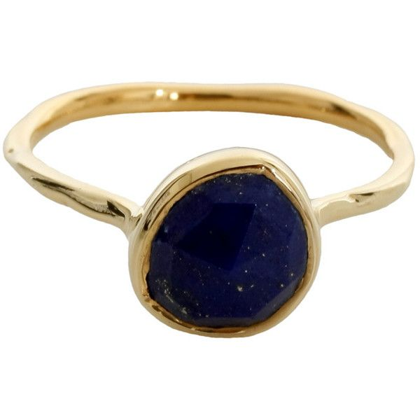 MONICA VINADER Siren Stacking Ring Lapis (175 AUD) ❤ liked on Polyvore featuring jewelry, rings, accessories, bijoux, anillos, stacking rings jewelry, monica vinader, stackable band rings, band jewelry and stackable rings