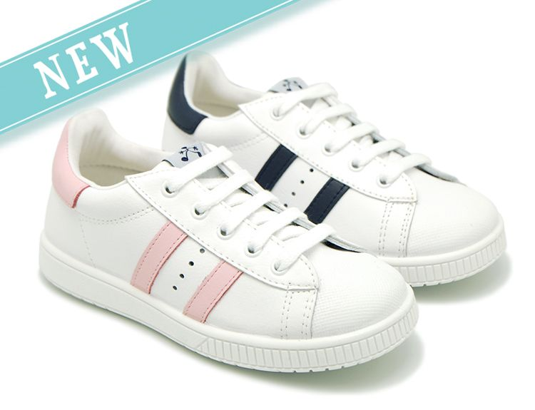 Tienda online de calzado infantil Okaaspain. Zapatilla colegial de piel  lavable Titanitos con cordones y ba0dbe28149