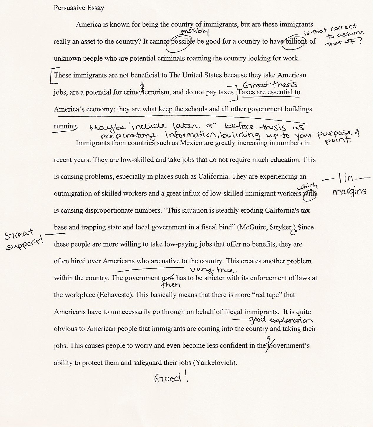 argumentative essay ideas for college