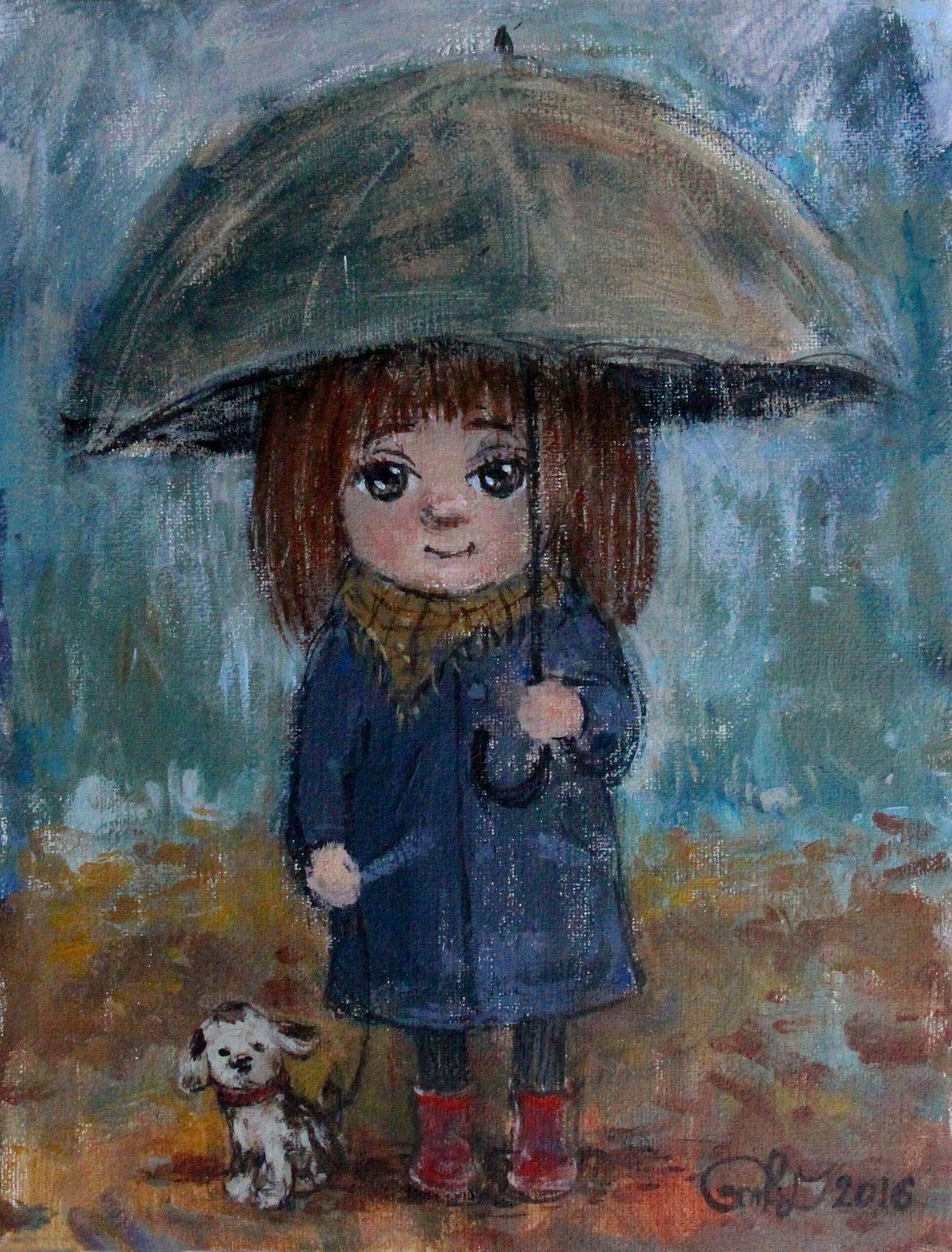 Открытка грустный дождик
