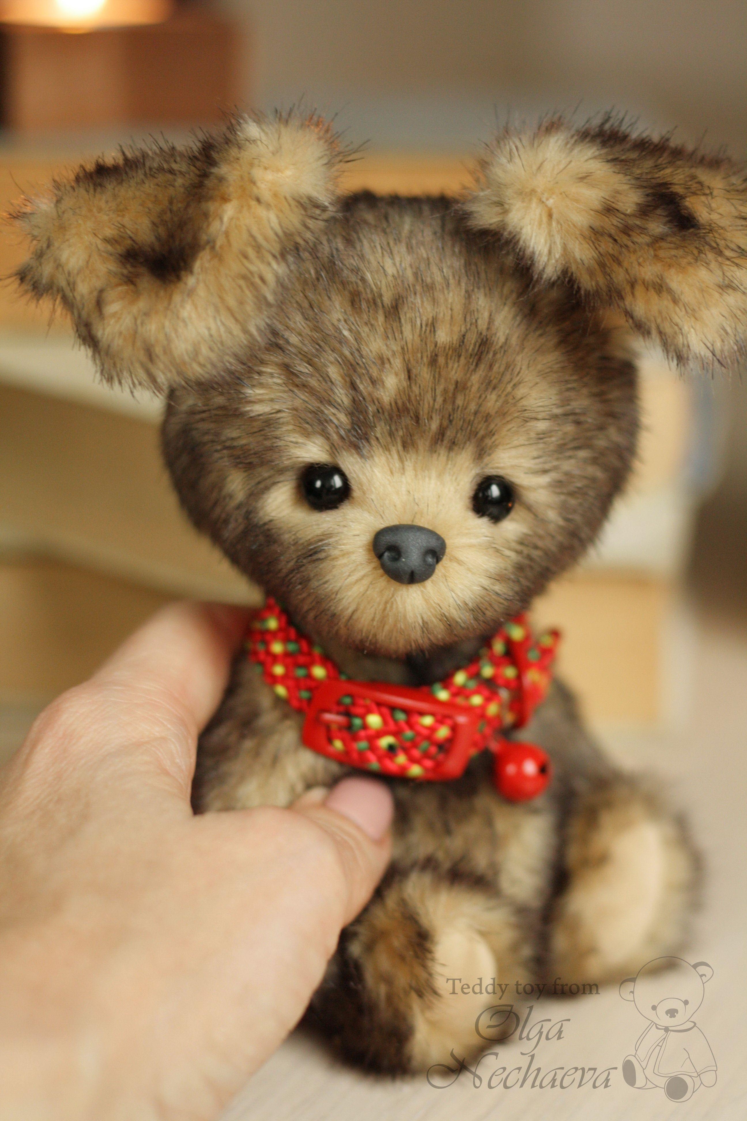 Puppy Busya By Olga Nechaeva On Tedsby Teddy Dog Plush Dog Puppies [ 3888 x 2592 Pixel ]