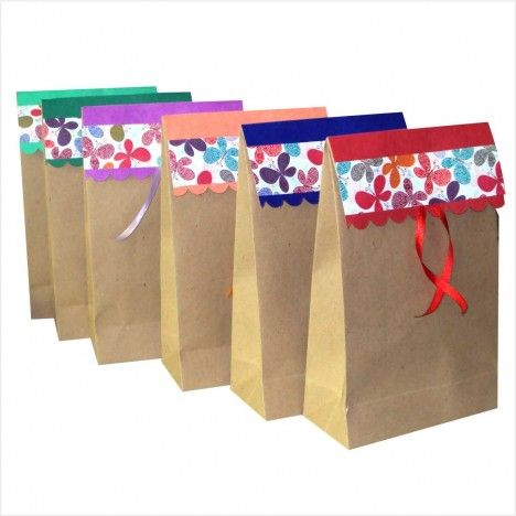 9193cd525 Saco kraft decorado - ideal para presentes …   Natal - Presentes ...