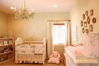 Elegant gold & pink nursery