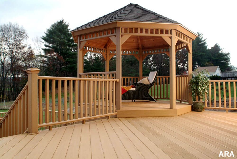 Decks With Gazebo Stunning Additional Structure In Lawn Gazebo