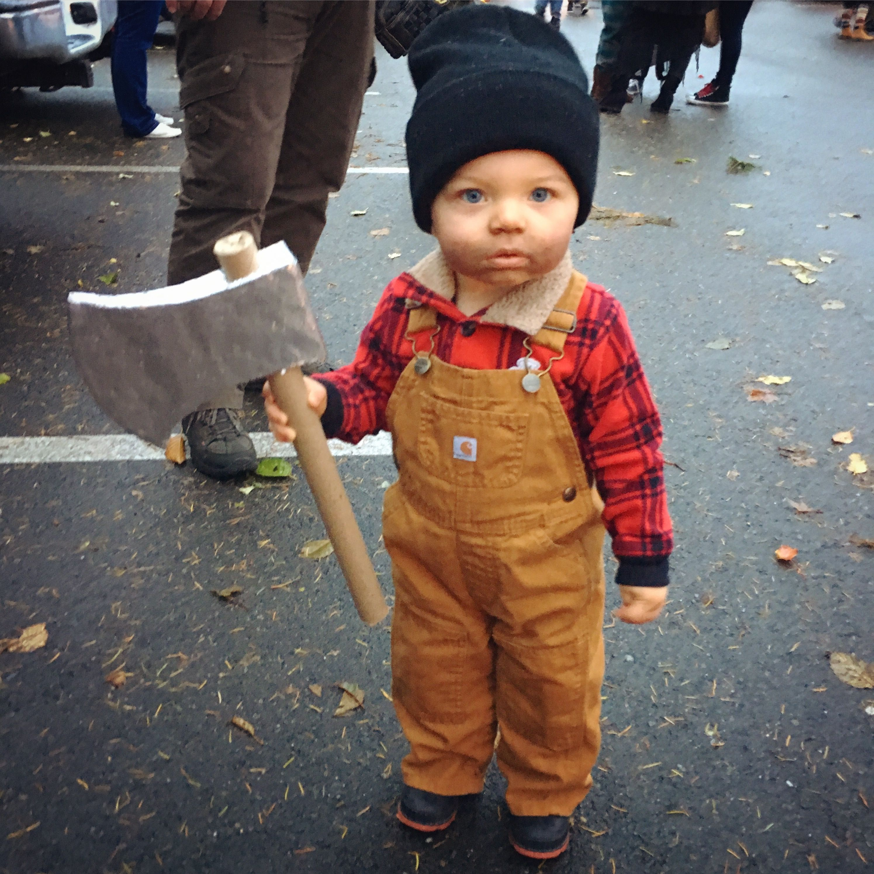 f3ed1745f1624 Little lumberjack, easy toddler Halloween costume | Chandler ...